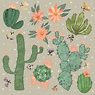 Succulents in Grey by Lindsey Bell