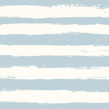 Blue and beige pastel summer ocean wave themed paintbrush stripes by UDDesign
