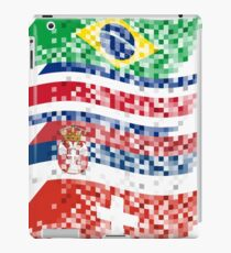 Abstract composition of the flags of national sports teams iPad Case/Skin