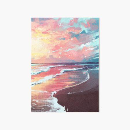Study of the Sea Art Board Print