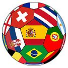 Football ball with various flags by siloto