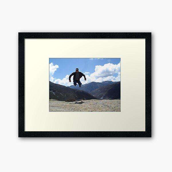 Sat on the thin air... Framed Art Print