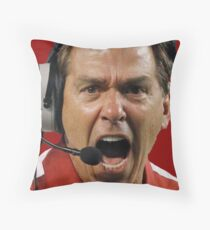 Nick Saban The Hulk Throw Pillow