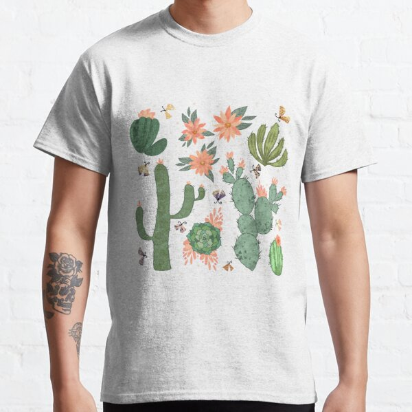 Succulents in Grey Classic T-Shirt