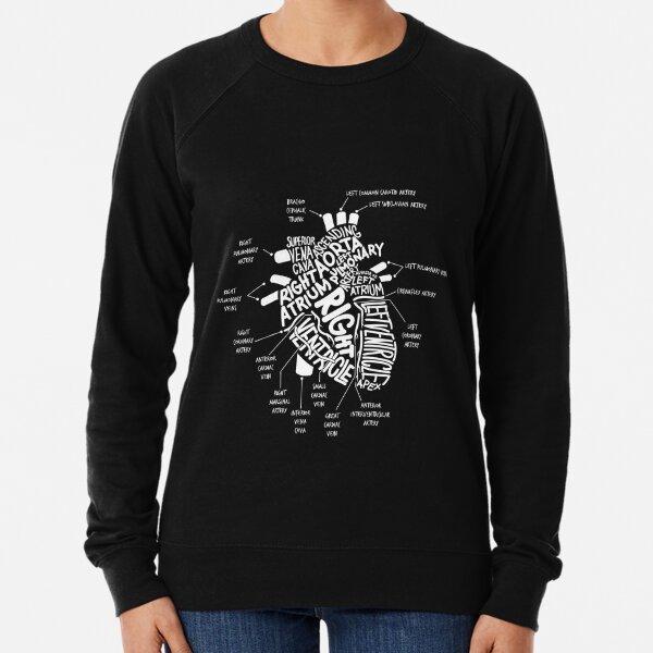 Anatomical Heart T-shirt Anatomical Heart Diagram Tshirt Lightweight Sweatshirt