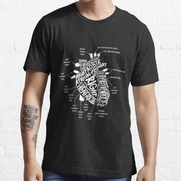 Anatomical Heart T-shirt Anatomical Heart Diagram Tshirt Essential T-Shirt