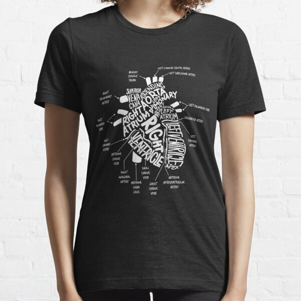 Anatomical Heart T-shirt Anatomical Heart Diagram Tshirt Essential T-Shirt