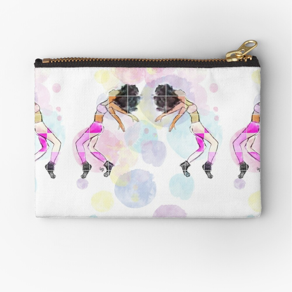 Moves | original art work by Eclectic Gift  Zipper Pouch