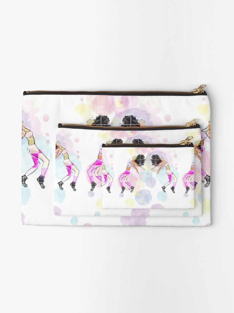 Alternate view of Moves | original art work by Eclectic Gift  Zipper Pouch