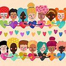Sisterhood Garlands - Light Background by Elisabeth Fredriksson