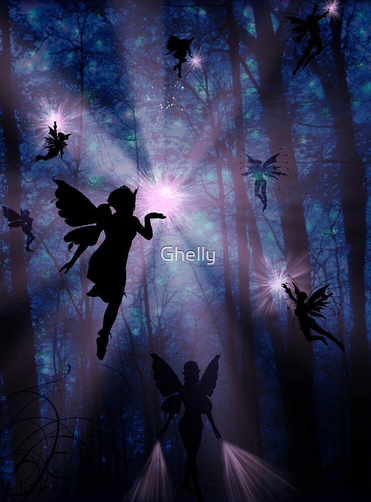 Shhhh.. Fairies working by Ghelly
