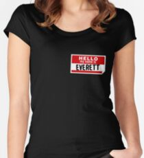 Hello My Name Is Everett Name Tag Women's Fitted Scoop T-Shirt