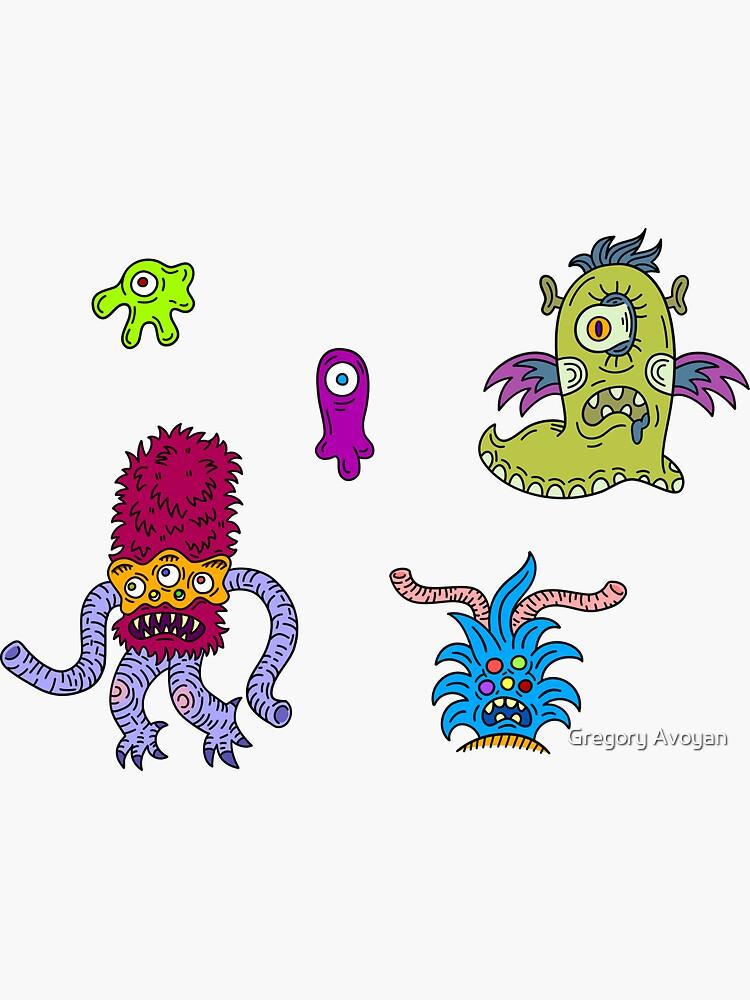 Alien Stickers set by G-Avoyan