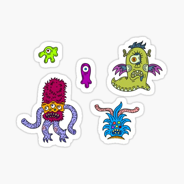 Alien Stickers set Sticker