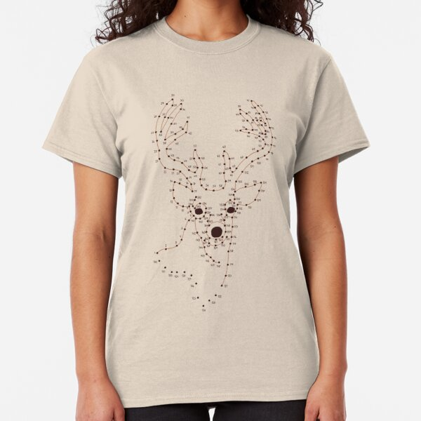 Connect The Dots - Deer Classic T-Shirt
