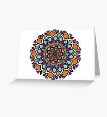 Tarjeta de felicitación Stained Glass Mandala