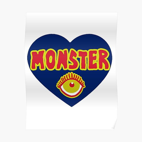 Monster Heart - Blue Poster