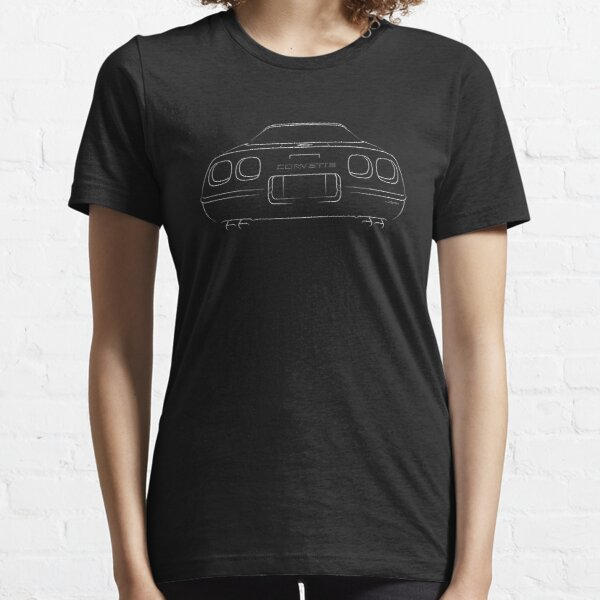 C4 Corvette ZR-1 - rear stencil, white Essential T-Shirt