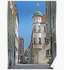A street in Regensburg Poster