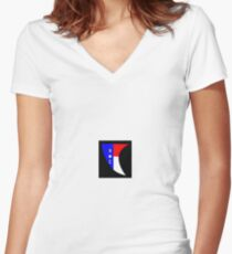 NC Surfboard Fin Decal Women's Fitted V-Neck T-Shirt
