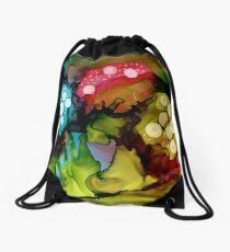 Three Mushrooms Drawstring Bag