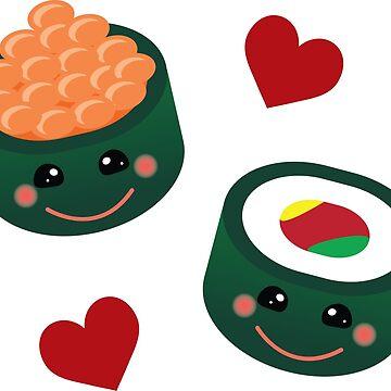 Kawaii Maki Design | Sushi by OhBoyLoveIt