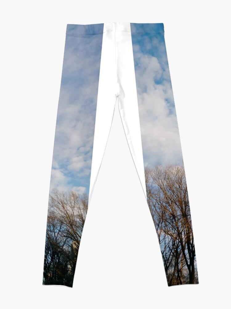 Alternate view of Sky, New York, Manhattan, Brooklyn, New York City, architecture, street, building, tree, car, pedestrians, day, night, nightlight, house, condominium,  Leggings