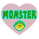 Monster Heart - Pink by ArtsAflame