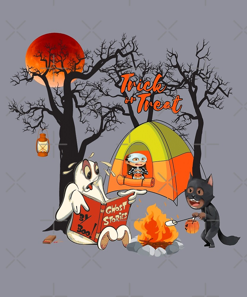 Ghost Stories Halloween Camping Trip by Jecolds