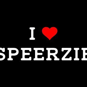 I Heart Speerzie on Black by AaronLSpeerUS