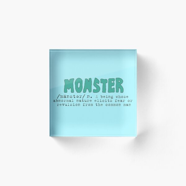 Monster Definition - Teal Acrylic Block