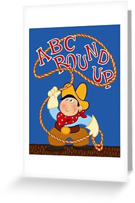Andys abc round up poster greeting cards by mammothtank redbubble andys abc round up poster by mammothtank m4hsunfo