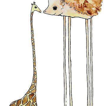 Giraffe and Hedghog by mesbensen