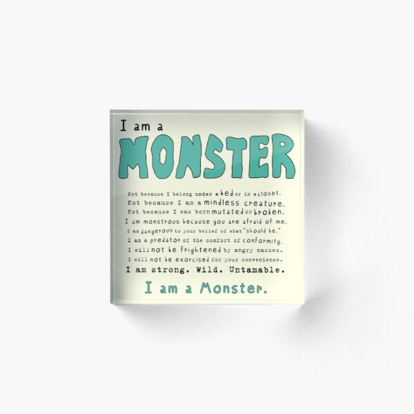 Monster Creed - Teal Acrylic Block