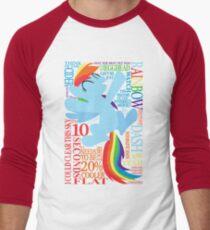 The Many Words of Rainbow Dash Men's Baseball ¾ T-Shirt
