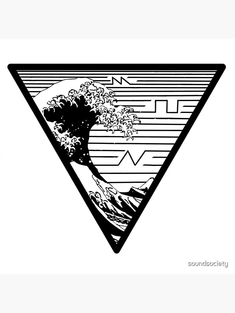 Great Wave Off Kanagawa Synth Waves | Poster