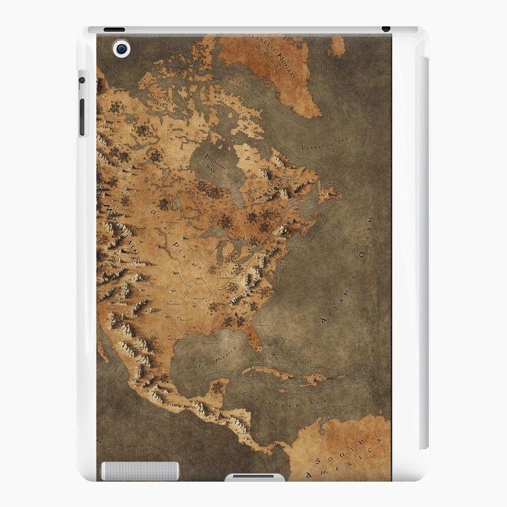 Karte von Nordamerika - Fantasy Theme iPad-Hüllen & Klebefolien