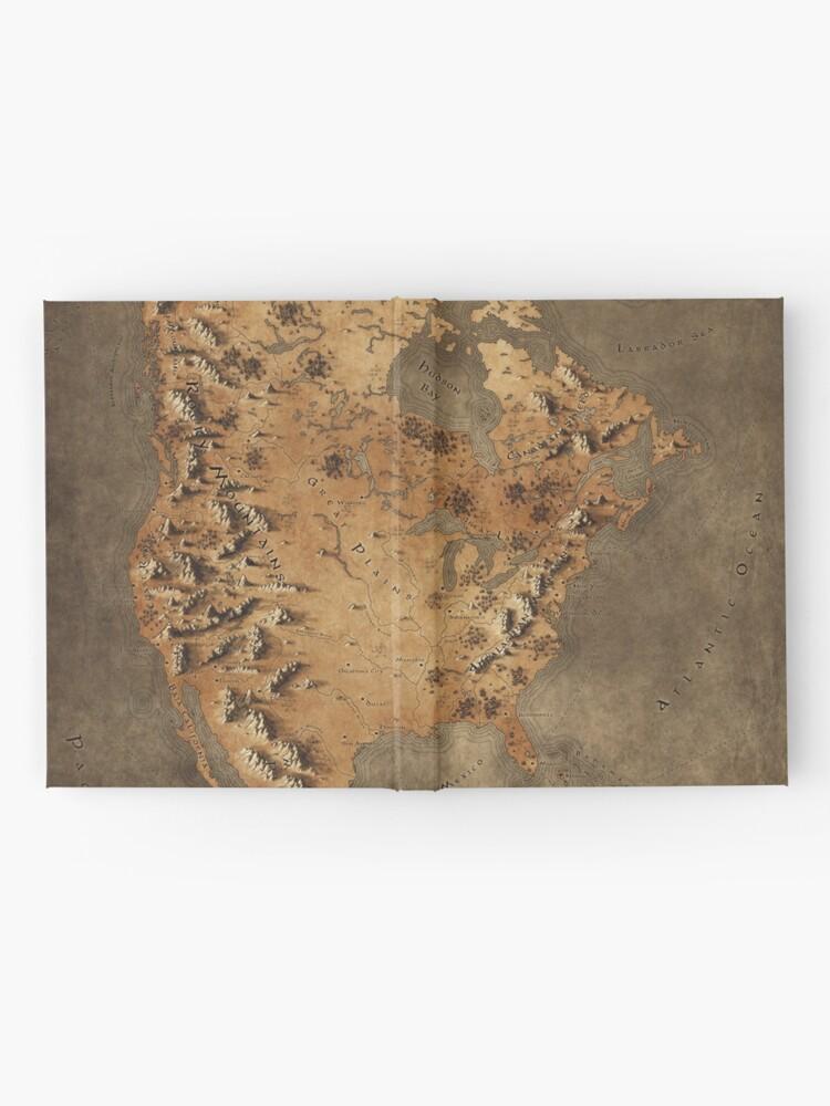 Alternative Ansicht von Karte von Nordamerika - Fantasy Theme Notizbuch