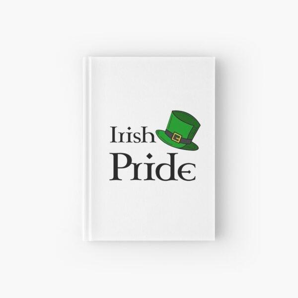 Irish pride with big green hat Hardcover Journal