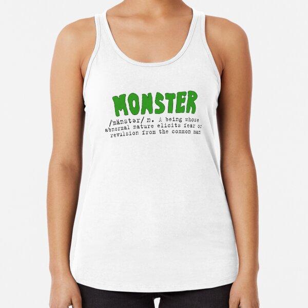 Monster Definition - Green Racerback Tank Top