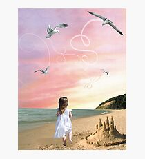 Once upon a sandcastle Photographic Print