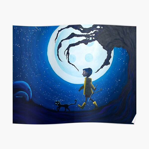Coraline Poster By Beccaheartsart Redbubble