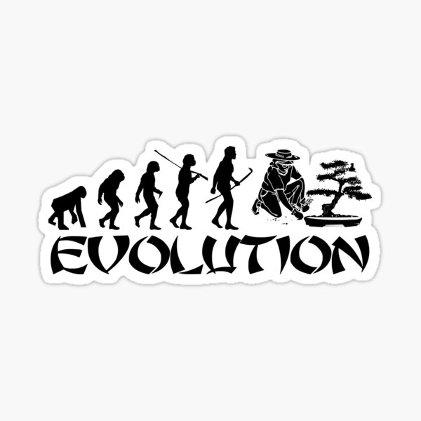 Bonsai evolution Sticker