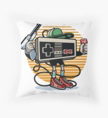 Old Skool Gamer Throw Pillow