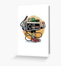 Old Skool Gamer Greeting Card