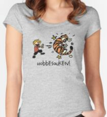 Hobbesouken! - Calivn and Hobbes Mashuip Women's Fitted Scoop T-Shirt