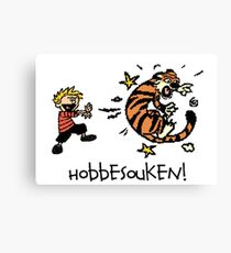 Hobbesouken! - Calivn and Hobbes Mashuip Canvas Print