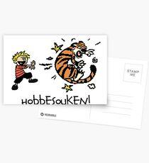 Hobbesouken! - Calivn and Hobbes Mashuip Postcards