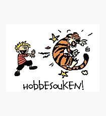 Hobbesouken! - Calivn and Hobbes Mashuip Photographic Print