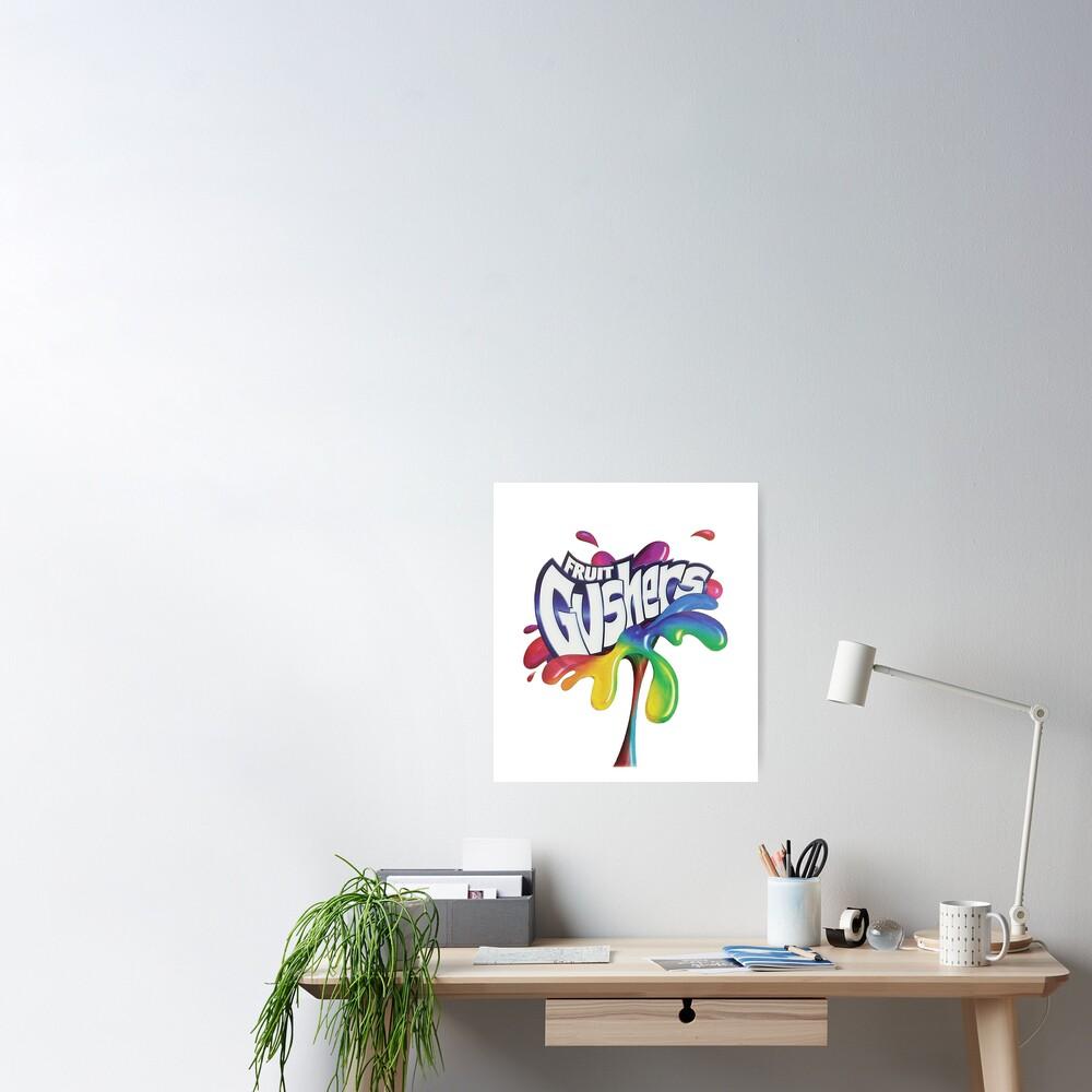 Fruit Gushers 90s logo Poster